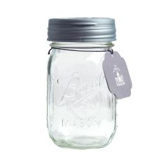 reCAP® Mason Jars FLIP & Ball Pint Jar, Regular Mouth, Silver