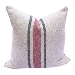 Vintage Stripe Pillow - Holiday