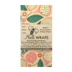 Meli Wraps Reusable and Eco-Friendly Beeswax Food Wraps - 3 Pack
