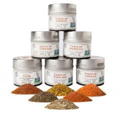 Cuisines of the World Gourmet Seasonings Collection - 6 Tins