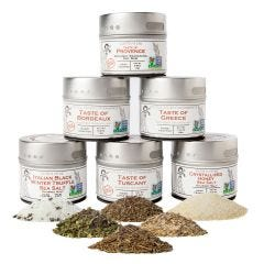 Luxury Gourmet Seasoning and Sea Salt Collection - 6 Tins