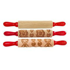 Princess 3 Pack of Mini Kids Wooden Rolling Pin