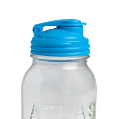 LIMITED! reCAP® Mason Jars lid POUR cap, Regular Mouth, Sky Blue