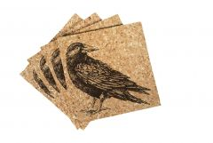 Donut Eco-Friendly Cork Coasters - Pack of 4