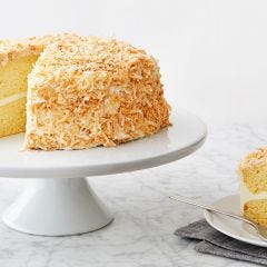 Coconut Cake with Toasted Flakes
