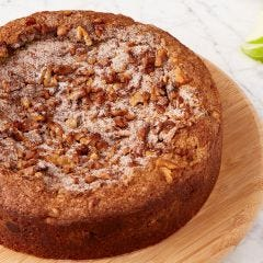 Coffee Cake with Chocolate, Apple, and Walnuts