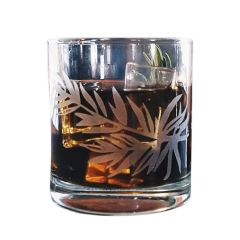 Rosemary Etched Old Fashioned Glass