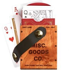 Misc. Goods Co. Wooden Single Playing Cards Case