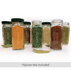 Glass Etched Spice Jars
