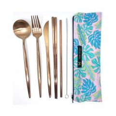 Bloom Reusable Eco-Pack Travel Stainless Steel Cutlery Utensil Set