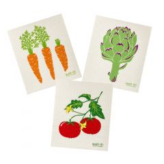 Wet-It Veggie Sponge Cloth Set of 3