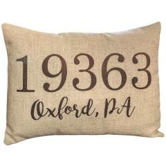 Customizable Address/Zipcode Pillows
