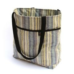 Laminated Cotton Zippy Tote