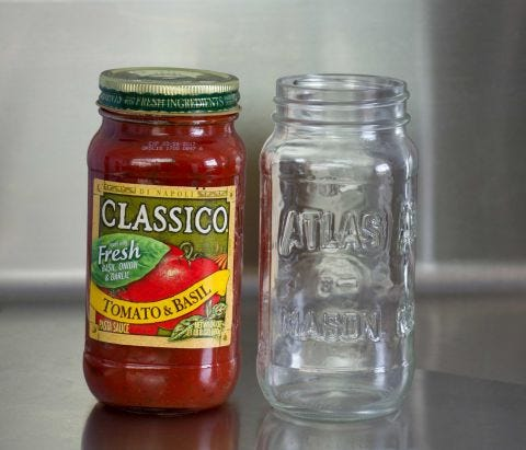 How to Remove a Sticky Jar Label