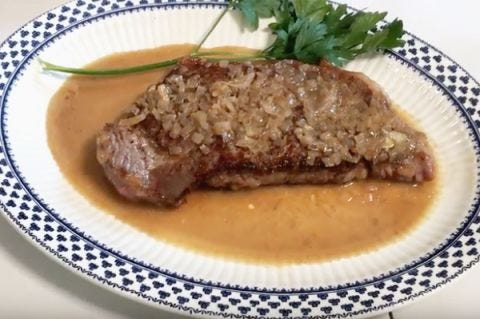 Classic Steak with Shallots and Cognac