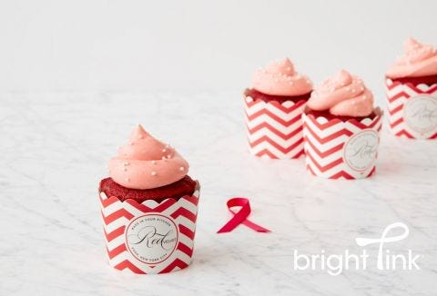 Pink Velvet Cupcakes with Cream-Cheese Frosting