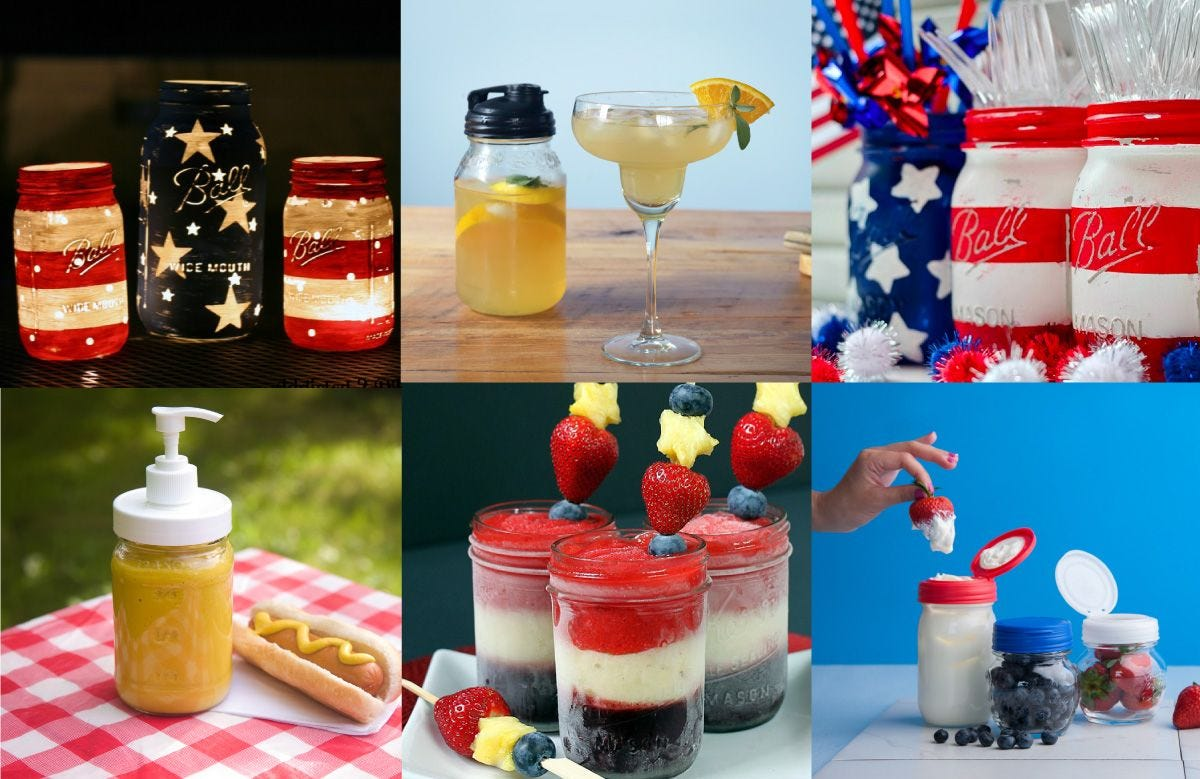 4th of July Mason Jar Recipes and Crafts how to.