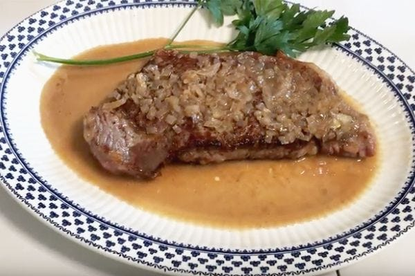 Classic Steak with Shallots and Cognac recipe.