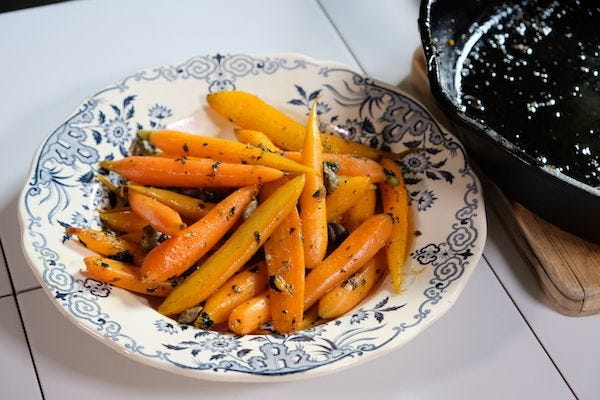 Homemade Cooked Carrots With Capers and Parsley Recipe recipe.