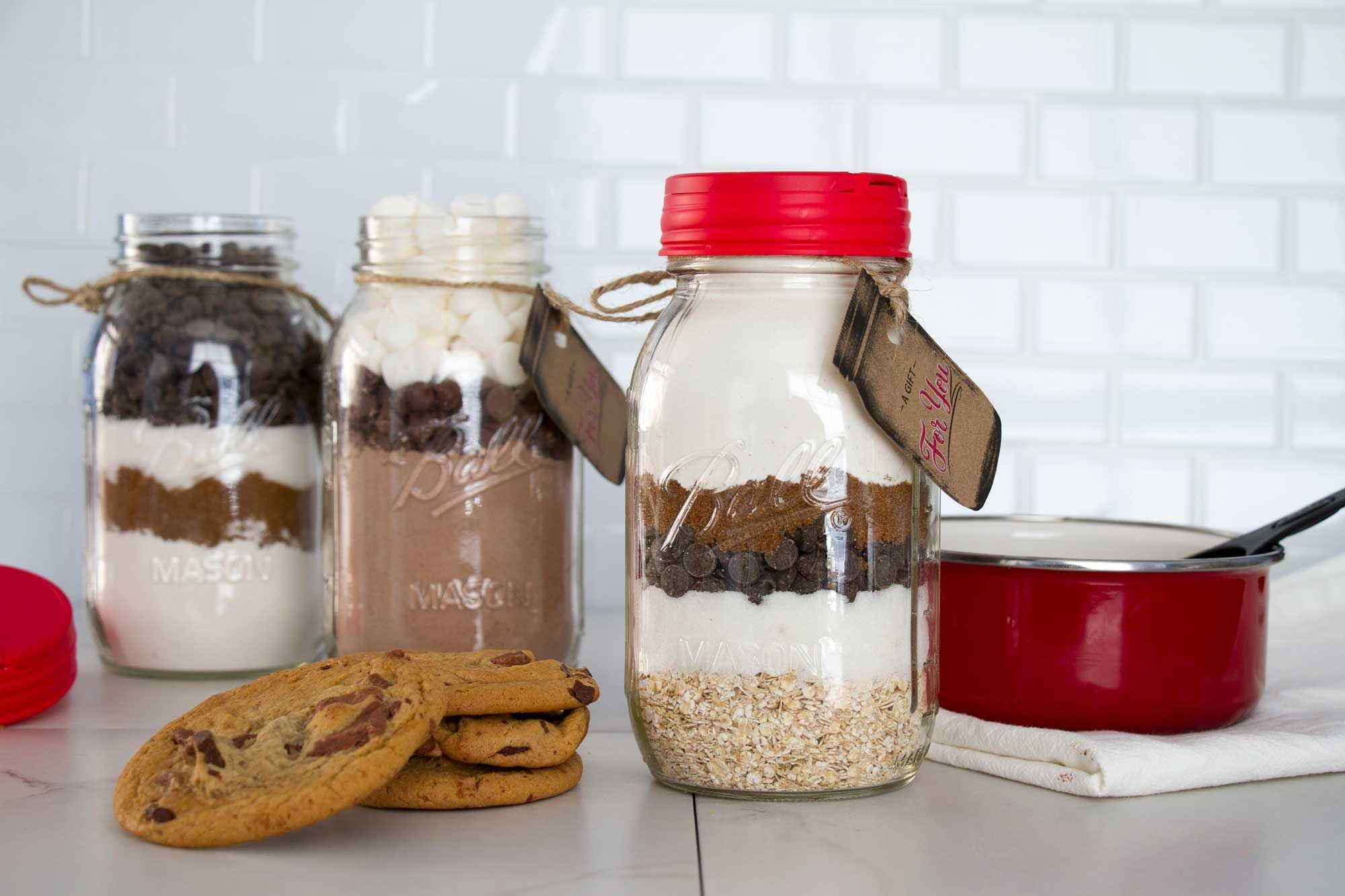 DIY Cookie Mix Gifts in Mason Jars recipe.