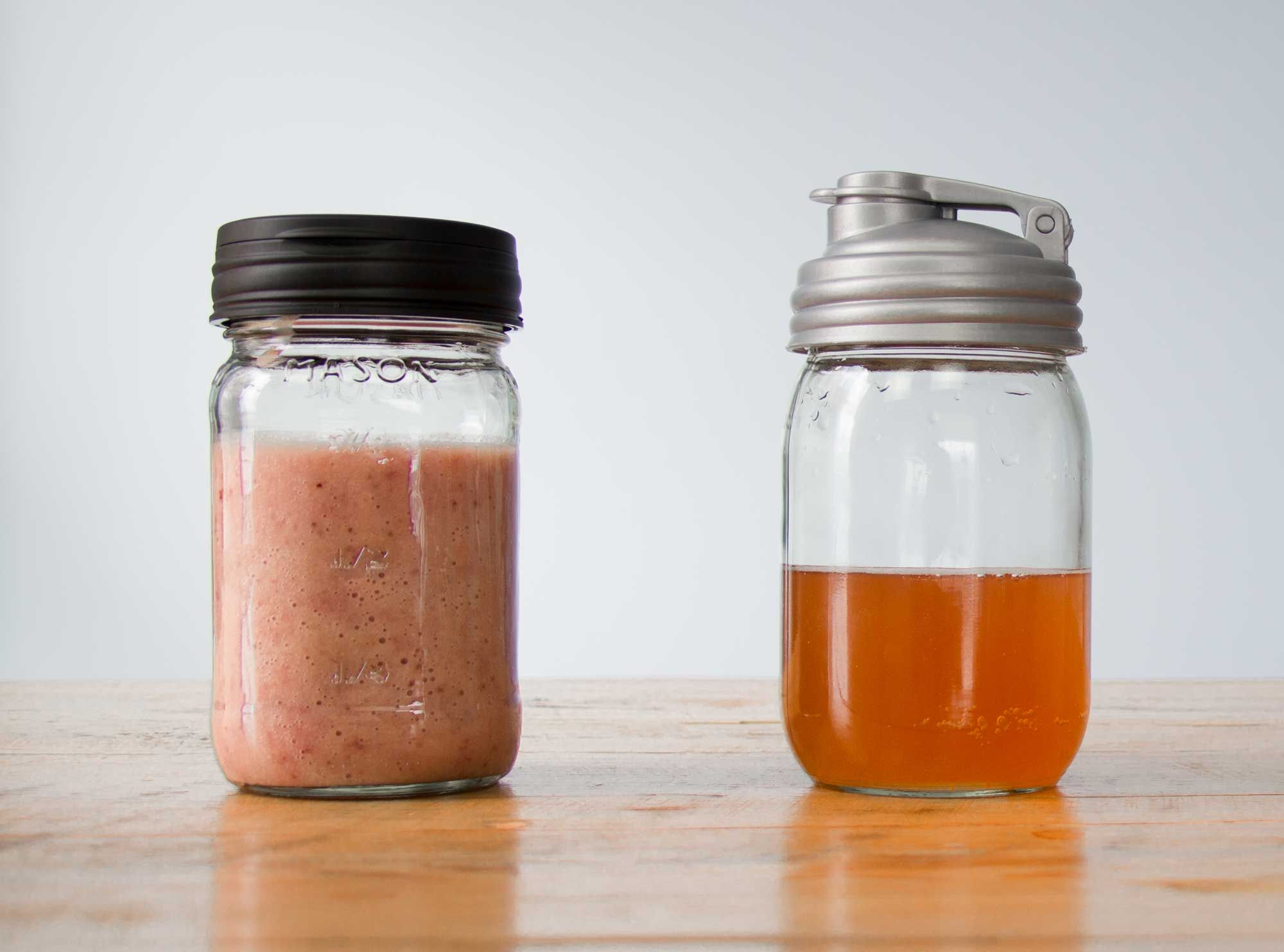 Ginger Strawberry Kombucha Smoothie recipe.