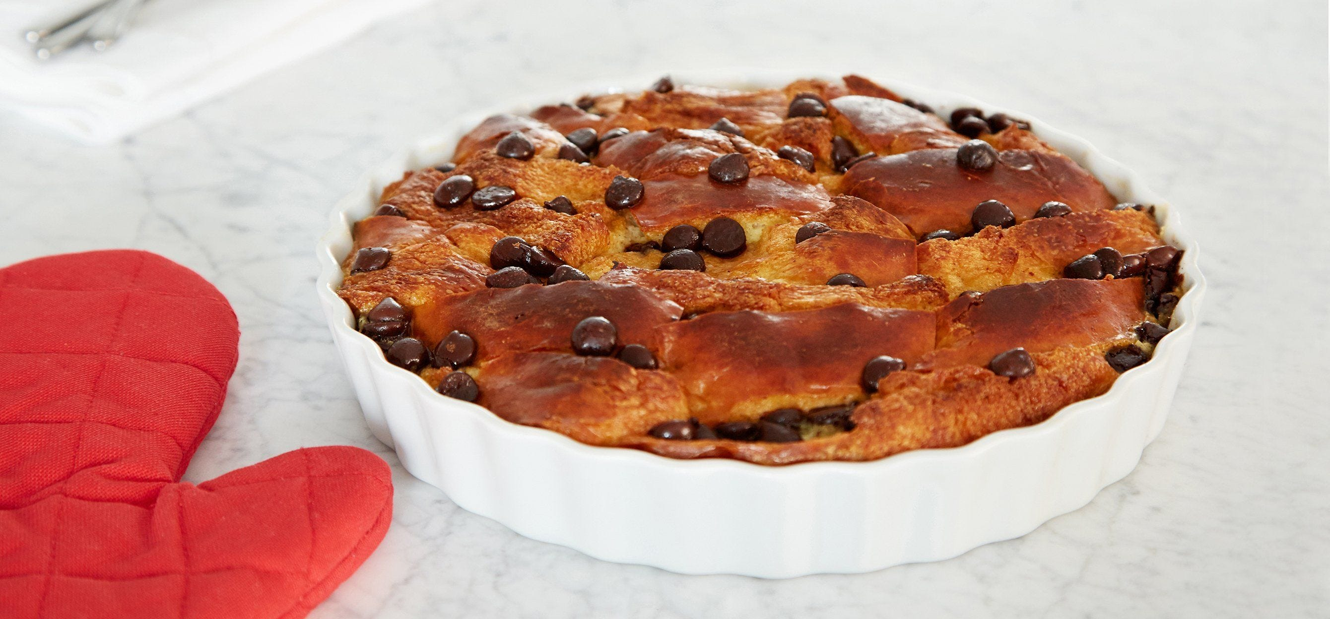 Brioche Bread Pudding with Dark Chocolate recipe.