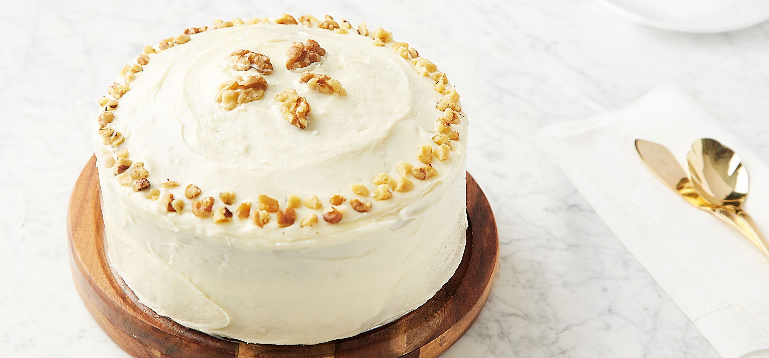 Carrot Cake with Walnuts and Cream Cheese Frosting recipe.