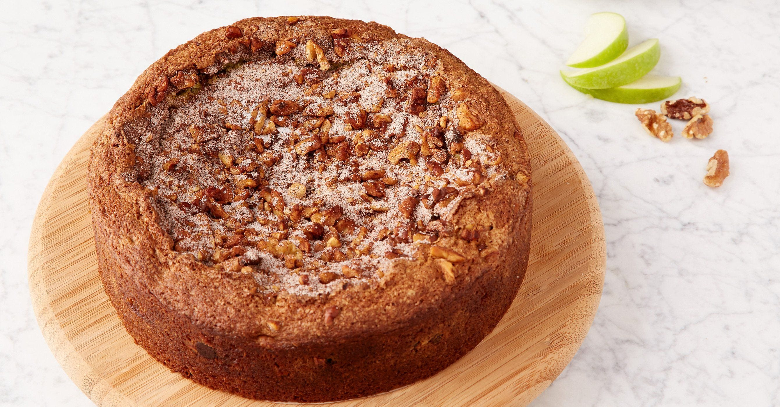 Coffee Cake with Chocolate, Apple, and Walnuts recipe.