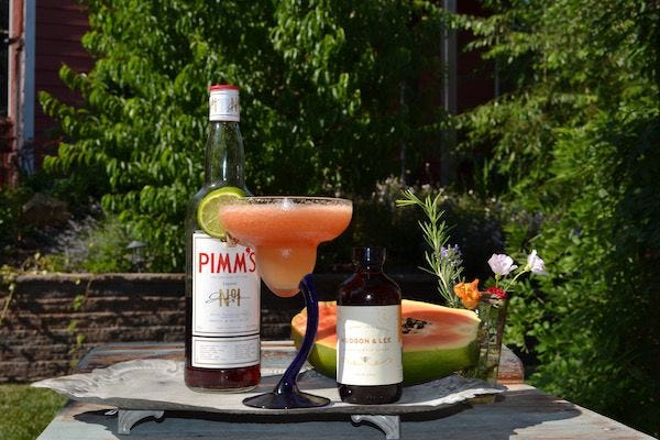 Frozen Honey Papaya Pimm recipe.