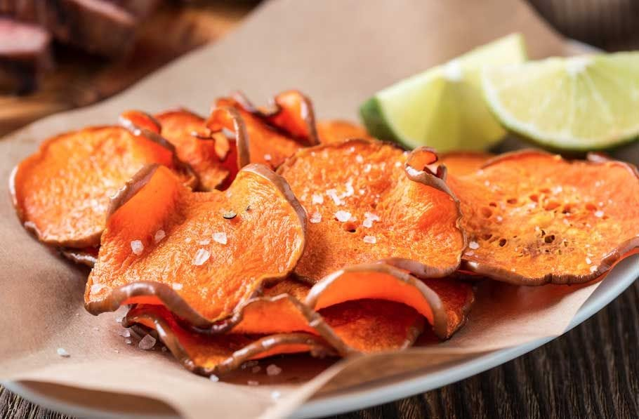 California Salted Sweet Potato Chips with Lime recipe.