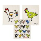 Wet-It Chicken Sponge Cloth Set of 3