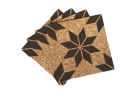 Eight-Pointed Large Star Quilt Pattern Cork Coasters
