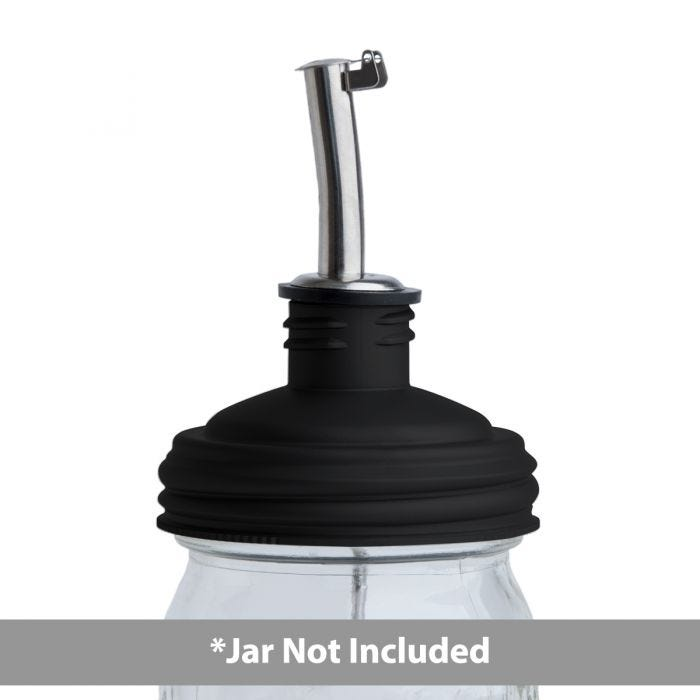 reCAP® Mason Jars Lid ADAPTA Pour Tap, Regular Mouth, Black