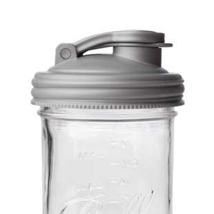 reCAP® Mason Jars Lid POUR cap with Fold out Carry Loop | Case of 12