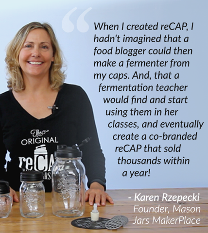 Karen Rzepecki, Founder of Mason Jars MakerPlace