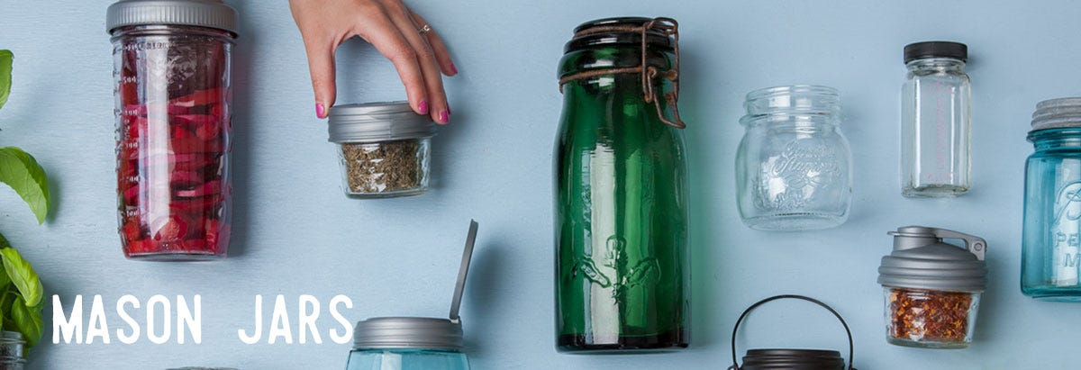 Shop Mason Jars and Accessories.